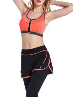 Push Up Front Zipper Sporty Bra - Jacinth S