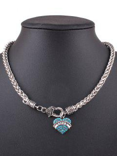 Love Heart Necklace - Blue