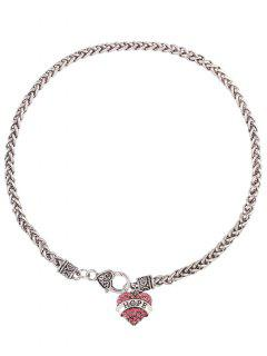 Hope Heart Necklace - Pink