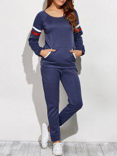 Sweatshirt Avec Poches Sur Le Devant - Bleu M