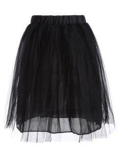Jupe  Mousseline Taille Haute De Bal - Noir S