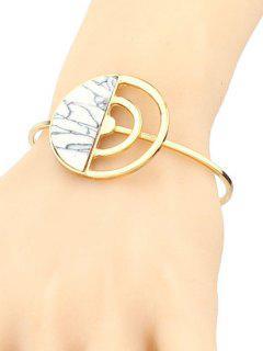 Bracelet Demi-Cercle Fantaisie Turquoise  - Blanc
