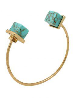Artificial Turquoise Square Bracelet - Green