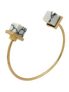 Artificial Turquoise Square Bracelet - White