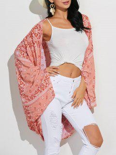 Paisley Print Long Sleeve Cover-Up - Floral