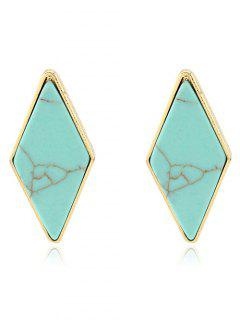Artificial Turquoise Geometric Earrings - Green