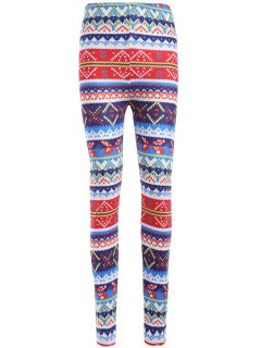 Colorful Printed Winter Leggings