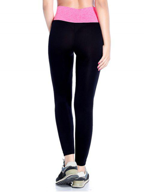 chic Stretchy Yoga Leggings - ROSE RED M Mobile
