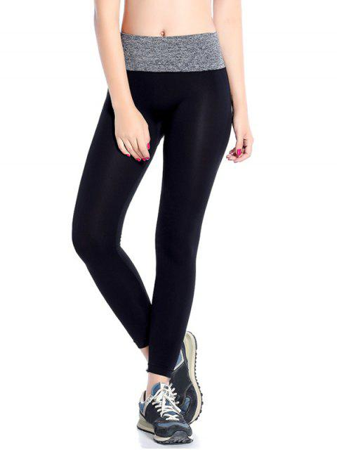 latest Stretchy Yoga Leggings - GRAY M Mobile