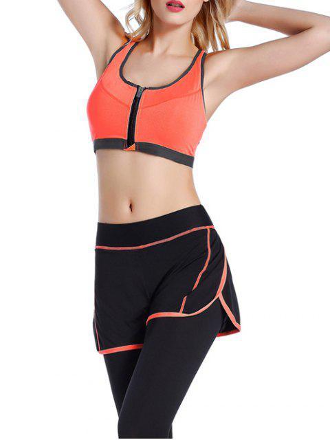 ladies Push Up Front Zipper Sporty Bra - JACINTH L Mobile