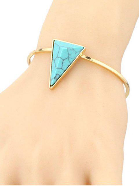 women Faux Turquoise Triangle Cuff Bracelet - GREEN  Mobile