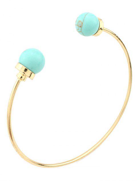 Bracelet bohémien perles en faux turquoise - Vert  Mobile