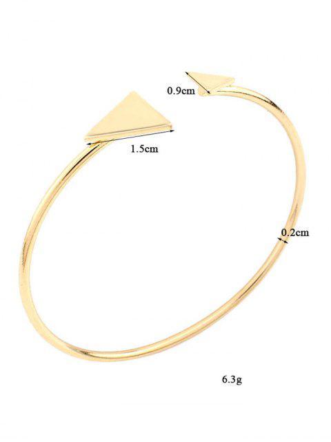 Bracelet Vintage triangle en alliage - Or  Mobile