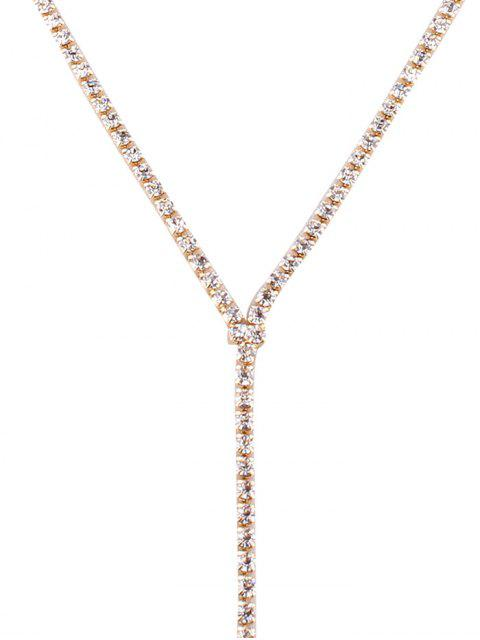 buy Rhinestoned Wide Choker - CHAMPAGNE  Mobile