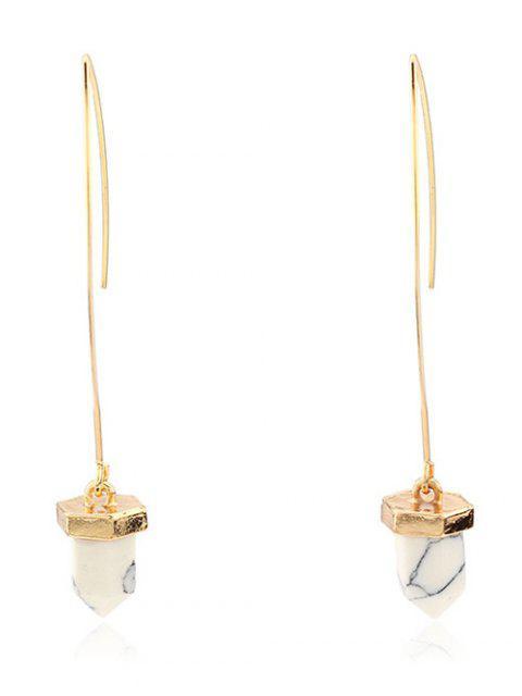 ladies Artificial Turquoise Bullet Earrings -   Mobile