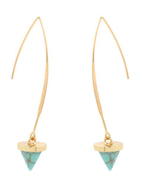 hot Artificial Turquoise Cone Embellished Earrings - GREEN  Mobile
