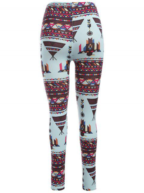 Leggings de yoga moulants imprimés motif coloré - Multicolore TAILLE MOYENNE Mobile