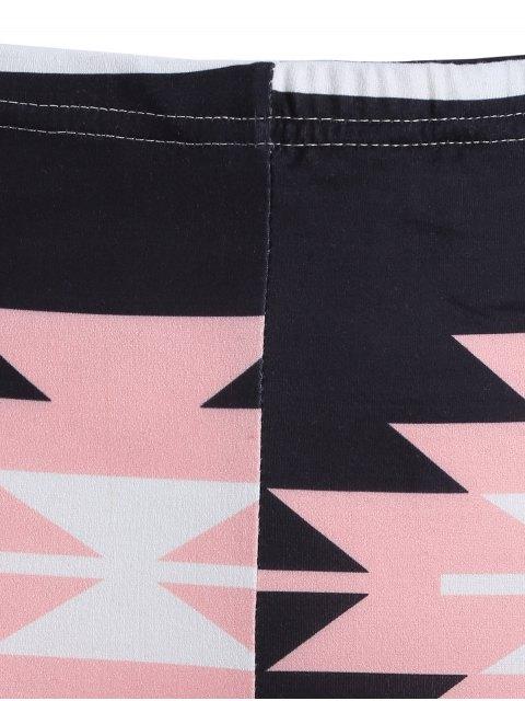 Leggings de yoga moulants imprimés motif coloré - Noir TAILLE MOYENNE Mobile