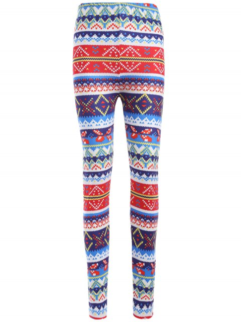 Leggings moulants imprimés motif coloré - Multicolore TAILLE MOYENNE Mobile