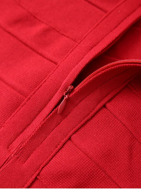 best Back Zipper Tank Top - RED ONE SIZE Mobile