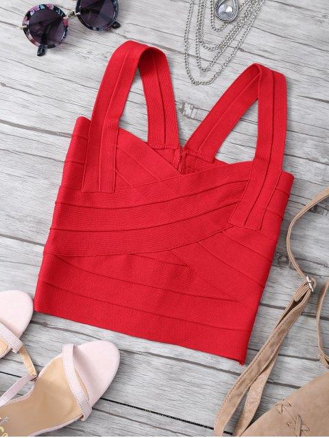 top zippé arrière et à bretelles - Rouge TAILLE MOYENNE Mobile