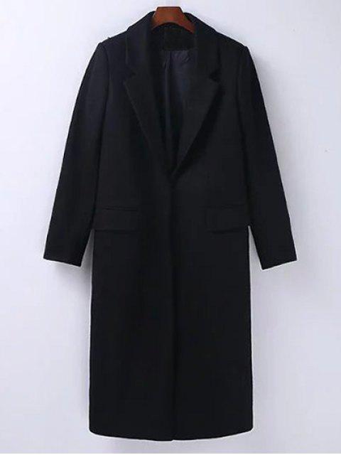 unique Wool Blend Masculine Coat -   Mobile