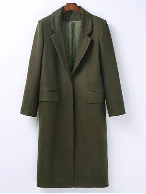 buy Wool Blend Masculine Coat - ARMY GREEN S Mobile