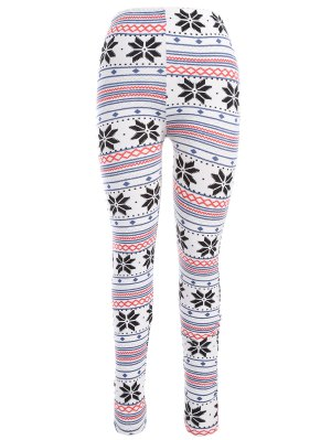 Leggings moulants imprimés flocons de neige de Noël