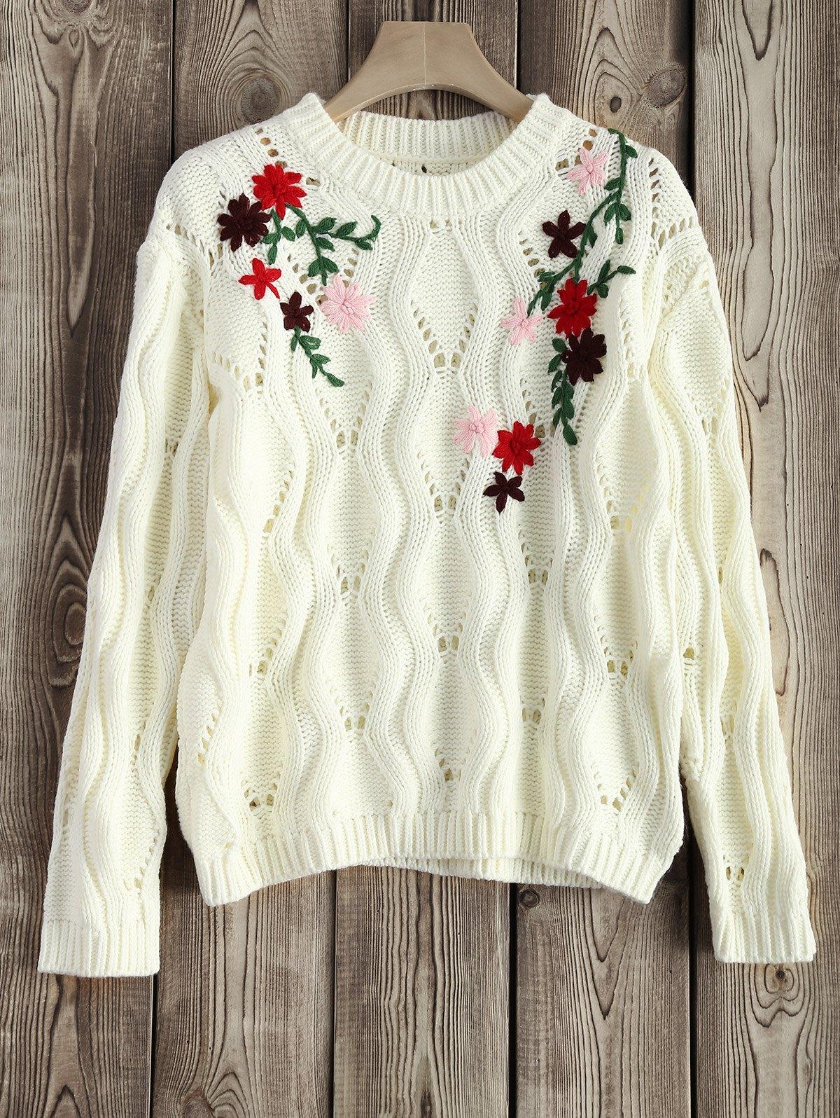 Вышивка на свитер 35