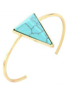 Faux Turquoise Triangle Cuff Bracelet - Green