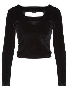 Recortable Pleuche La Camiseta - Negro