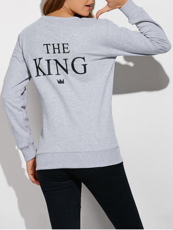 Sweat-shirt Lettres Couples - Gris S