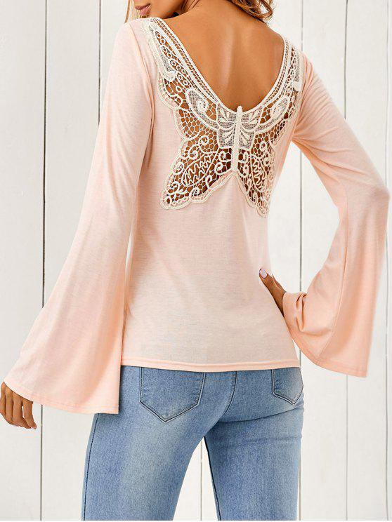 Butterfly Pattern Bell Sleeves T-Shirt