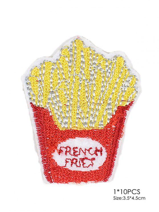 new 10 PCS Chips Design Embroidered Patches - RED