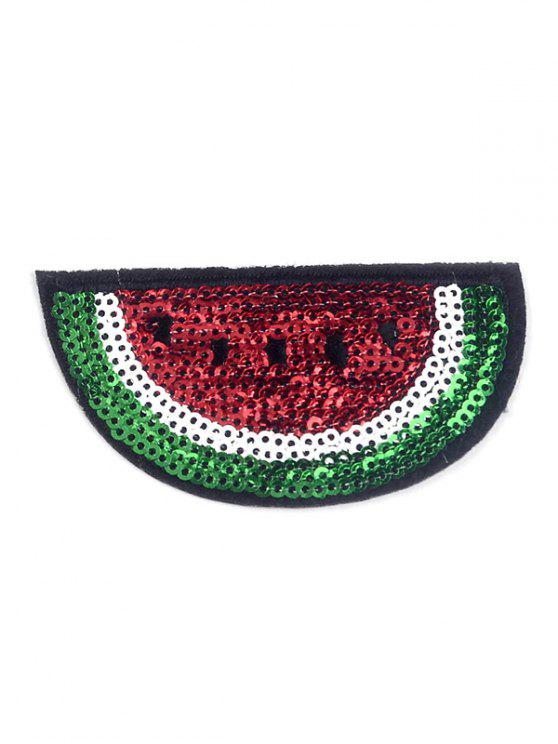 outfit 10 PCS Watermelon Design Embroidered Patches - RED
