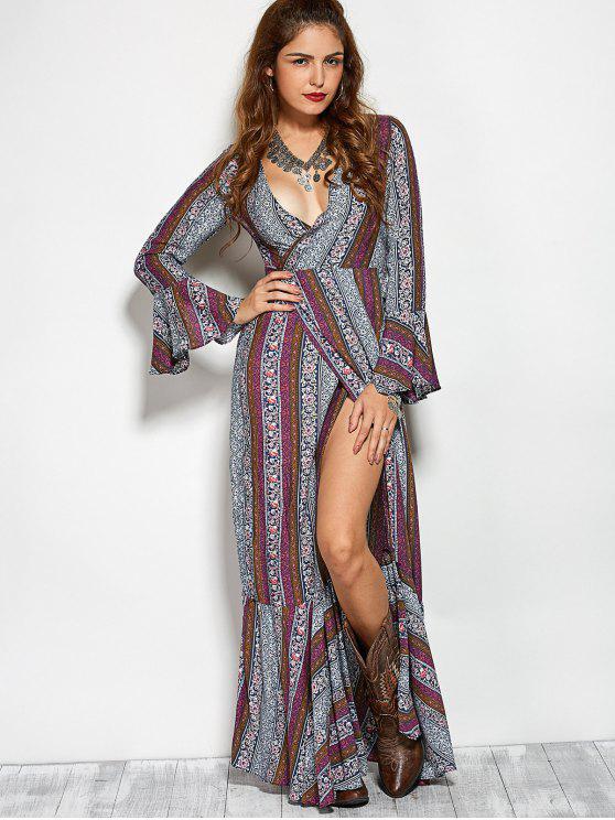 Impreso de alta Vestido de corte largo de Bohemia Crossover - Colormix L