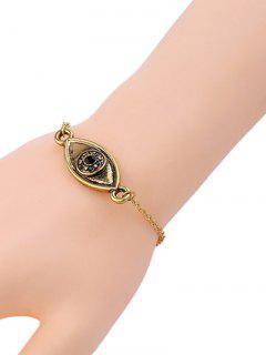 Barcelet à L'oeil En Faux Diamant Concis    - Or