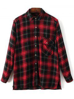 Dragon Embroidered Tartan Shirt - Plaid S