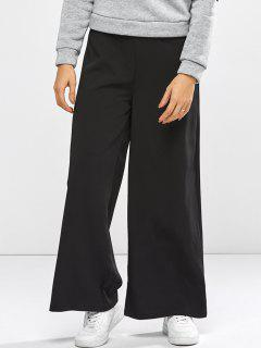 High Waist Culotte Pants - Black Xs