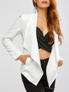Turn Down Collar Business Blazer - Off-white Xs