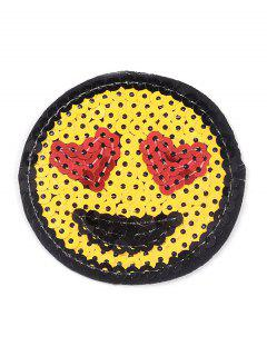 10 PCS Smile Heart Embroidered Patches - Yellow