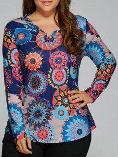 Colorful Abstract Pattern Top - 3xl
