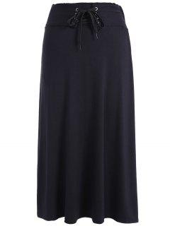 Jupe Taille Haute Laçage - Noir
