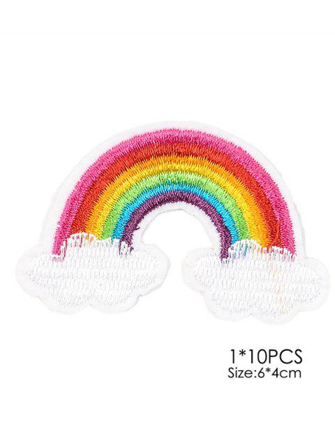fancy 10 PCS Rainbow Design Embroidered Patches -   Mobile