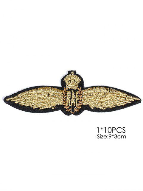 sale 10 PCS Wings Design Embroidered Patches -   Mobile
