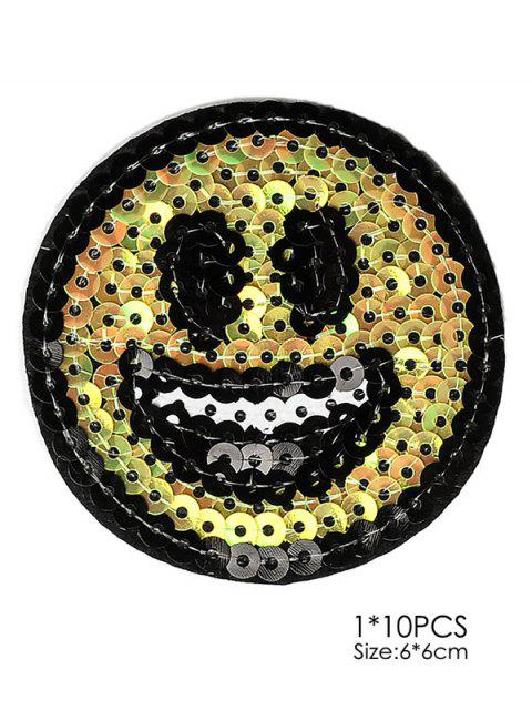 buy 10 PCS Smile Design Embroidered Patches -   Mobile