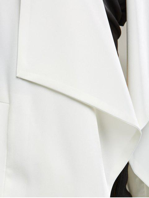 fashion Turn Down Collar Business Blazer - OFF-WHITE M Mobile