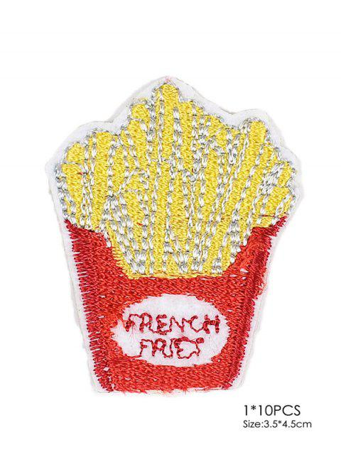 new 10 PCS Chips Design Embroidered Patches - RED  Mobile