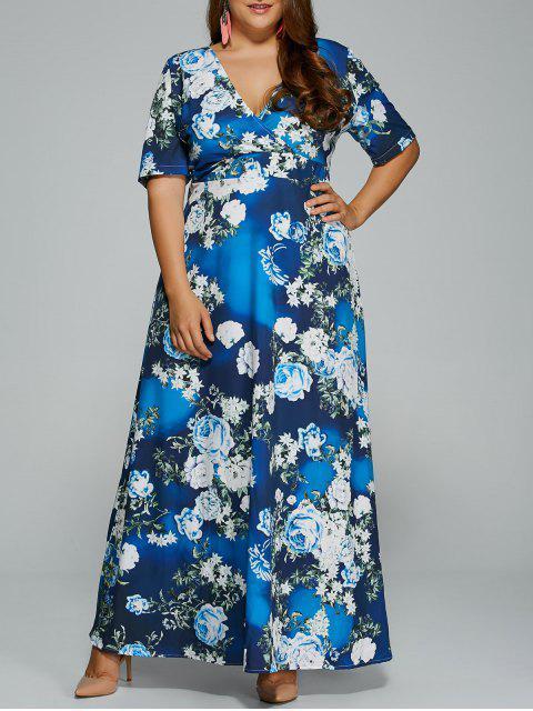 Floral Plus Size Kleid - Blumen 4XL Mobile