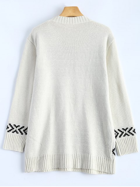 unique Merry Christmas Sweater - OFF-WHITE ONE SIZE Mobile
